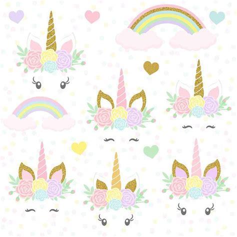 Diy Photo Frame Kits Floral Blessing Bingkai Foto Kado Fpm004 unicorns clipart gold glitter unicorns unicorn