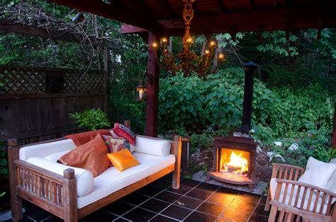 backyard wood stove cozy gazebo at night i found the wood stove at a yard