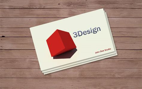 3d business card template unique business cards
