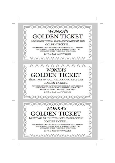 golden ticket invitation template free 25 unique golden ticket template ideas on
