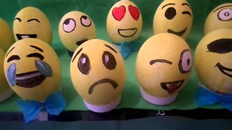 huevos decorados de emojis emojis en cascaron decorado youtube