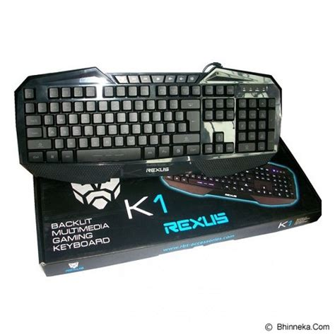 Keyboard Rexus K1 jual rexus k1 backlight gaming keyboard merchant murah bhinneka