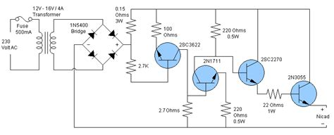 nicd battery charger circuit diagram free how to recondition a nicad nickel cadmium battery