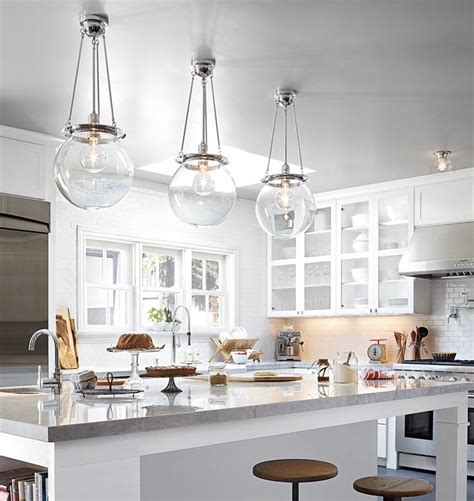 Pendants Lighting In Kitchen Acrylic And Glass Chandelier Thayer Reed