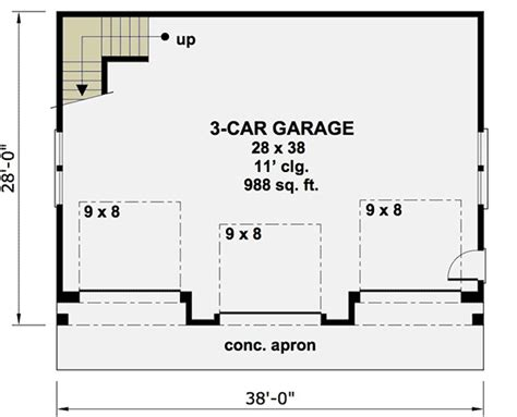 free 3 car garage plans architectural designs