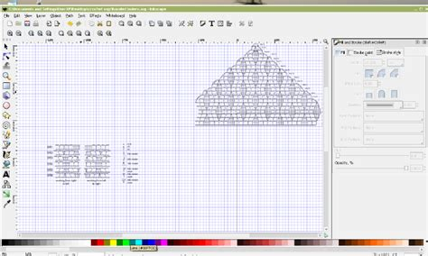 inkscape tutorial pattern drawing crochet patterns in inkscape crocheted