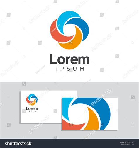 business card logo design template logo design elements business card template stock vector
