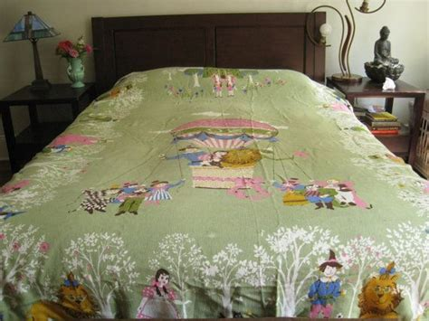 wizard of oz bedding vintage wizard of oz bedspread twin blanket coverlet kinder bedding 1970s throw