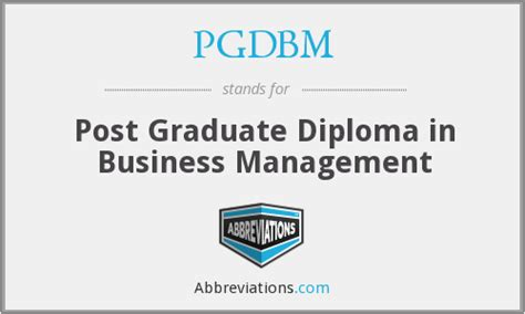 Post Graduate Diploma Vs Mba by What Does Pgdbm Stand For