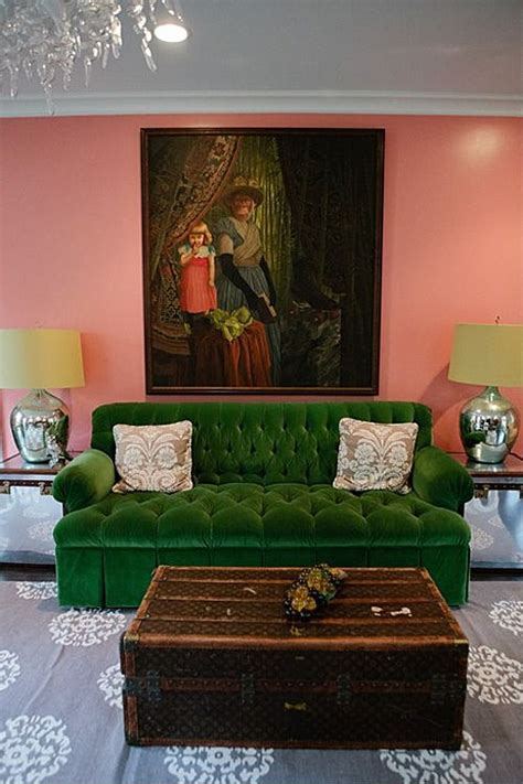 green sofa what color wall paint the new neutrals infusing bold color into the home