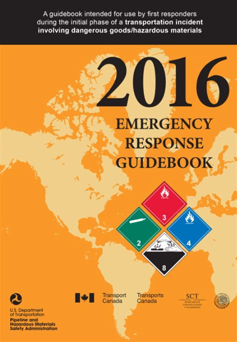 emergency response guidebook yellow section 2016 erg emergency response guidebooks publications icc