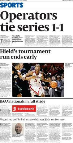 today s front page of the sports section of the nassau