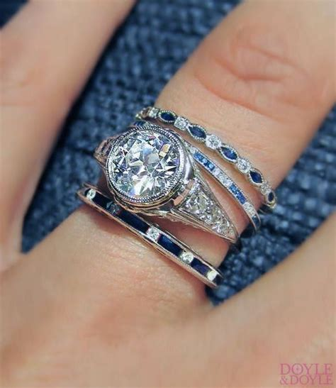 Wedding Rings With Sapphires And Diamonds by Sapphire Ring Band Wedding Promise