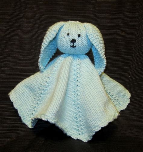 knitted bunny blanket pattern knitted bunny security blanket knitting