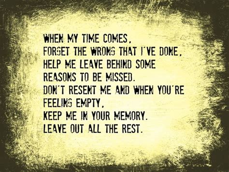 There S A Place Of Rest Lyrics Leave Out All The Rest Lyrics By Linkin Park Graduation