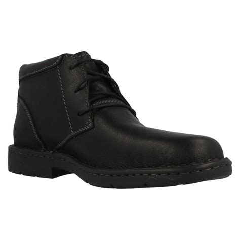 wide fit mens boots mens clarks wide fitting smart boots stratton limit ebay