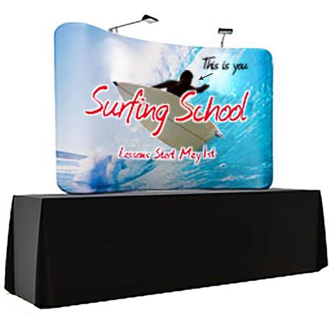 table top display 7 5 x 5 custom print table top display curved design