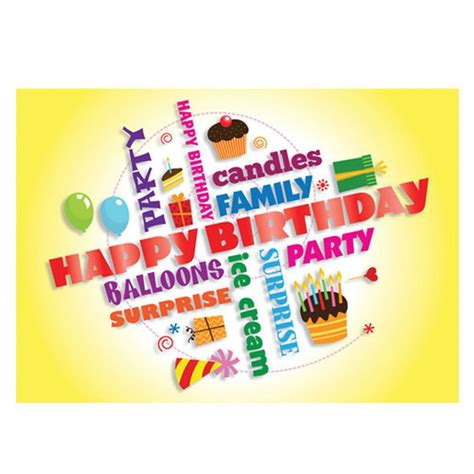 happy birthday yellow greeting card positive promotions