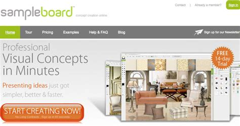 design board application mood boarding methods for web designers