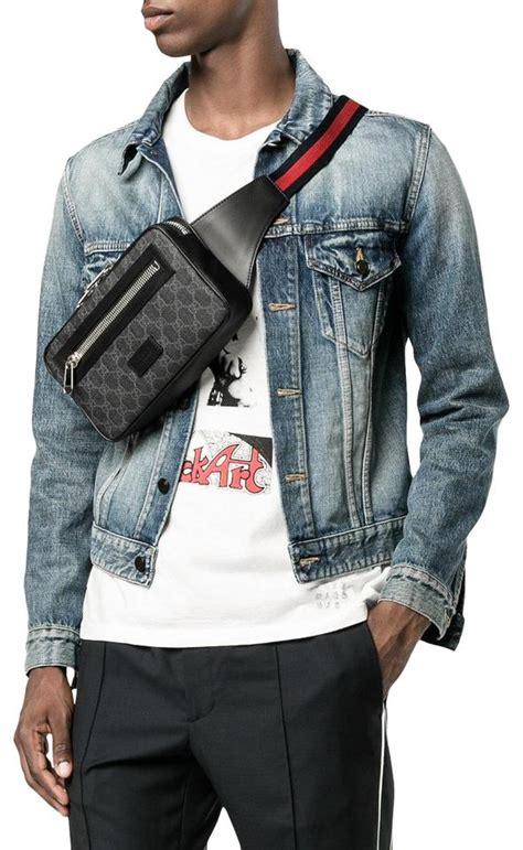 gucci monogram web belt fanny pack waist pouch gj