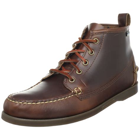 sebago boots sebago mens beacon boot in brown for brown waxy