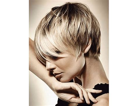pixie cut with longer fringe one siidde 14 hairstyles for short hair with bangs