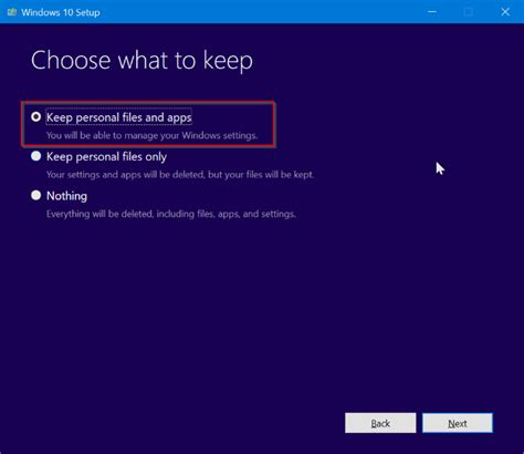 install windows 10 without losing files repair windows 10 install without losing apps data