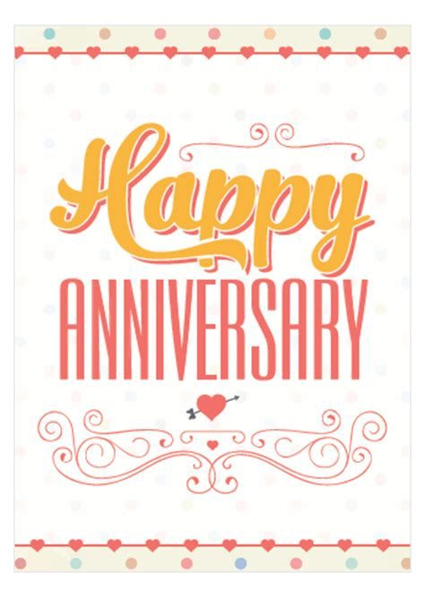 happy work anniversary card template free printable anniversary cards ready now