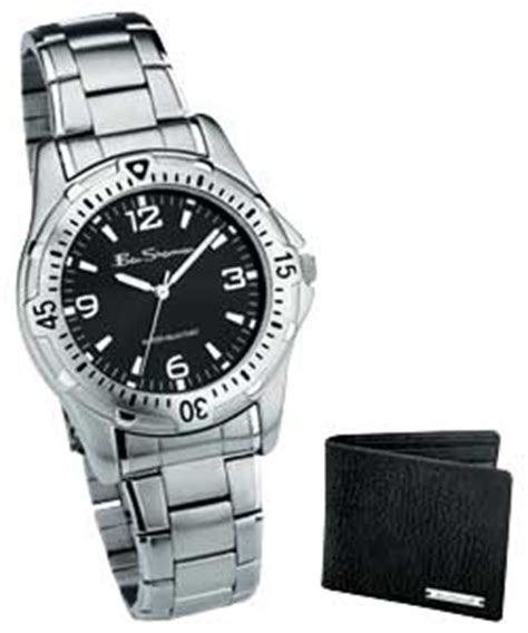 ben sherman Gents Bracelet Watch and Wallet Set   review, compare prices, buy online