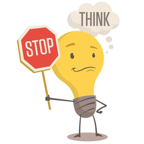 think clipart stop and think clipart
