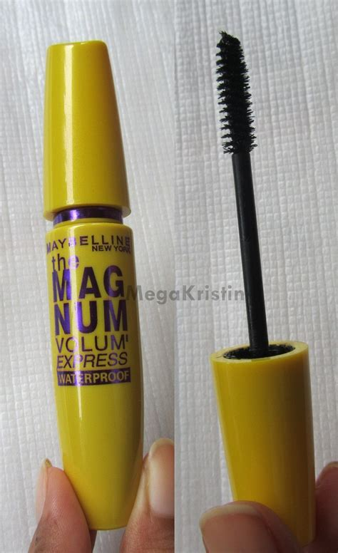 Mascara Maybelline Magnum Waterproof maybelline the magnum volum express mascara mega kristin