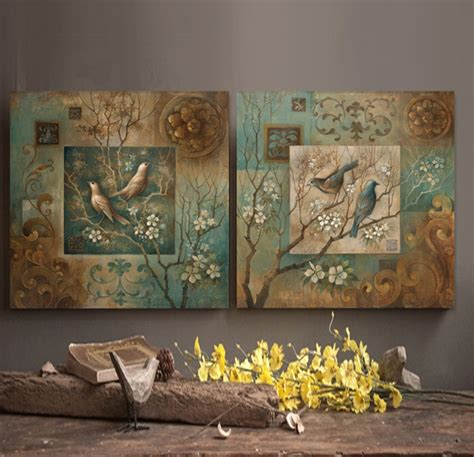 wall painting home decor bird painting canvas wall home decor living room bedroom artists branch office on