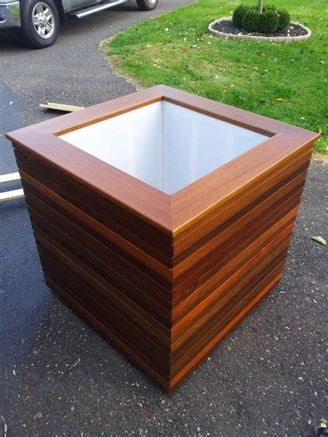 hand crafted ipe planters by bucks county craftmasters custommade com
