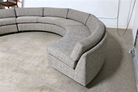 circular sectional circular sectional sofa by milo baughman at 1stdibs
