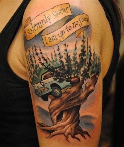 whomping willow tattoo idea