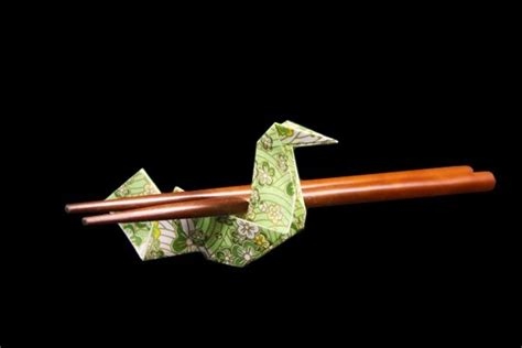 origami boat chopstick rest how to make chopstick wrapper stand bird easy origami