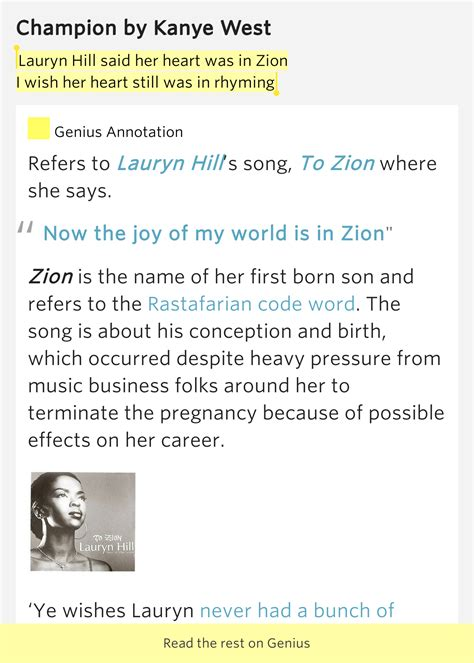 lauryn hill zion lyrics meaning lauryn hill said her heart was in zion i wish her