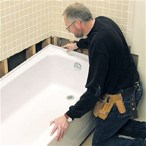 install bathtub replacing a bathtub how to repair or replace a bath tub