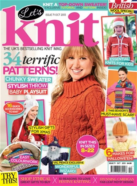 just knitting magazine let s knit magazine subscription isubscribe co uk