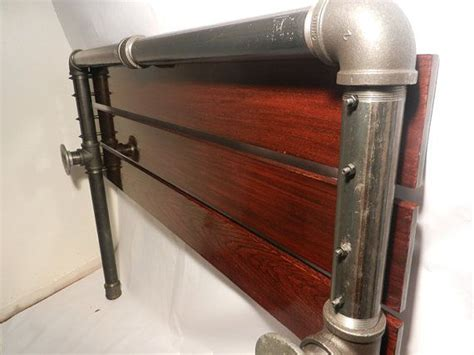 pipe headboard industrial pipe headboard by local3552 on etsy bedroom