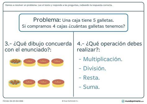 preguntas faciles sobre matematicas ficha de contestar preguntas sobre un problema para primaria