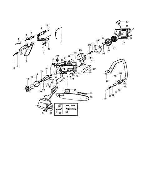 poulan pro chainsaw parts diagram size