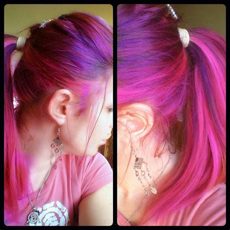 splat crimson obsession mixed with lusty lavender 83 best images about pink hair on pinterest cute bangs