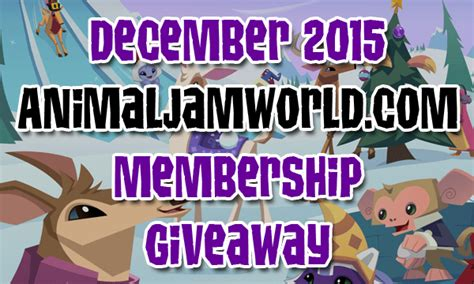 Animal Jam Membership Giveaway 2017 - animal jam membership giveaway newhairstylesformen2014 com