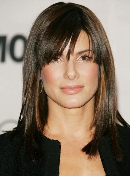 medium haircuts side swept bangs popular hairstyles with cool bangs hairstyles weekly