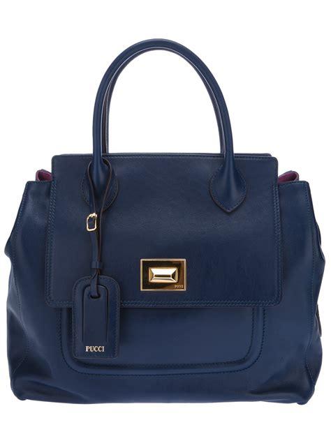 Emilio Pucci Handbag Sale by Emilio Pucci Tote Bag In Blue Navy Lyst