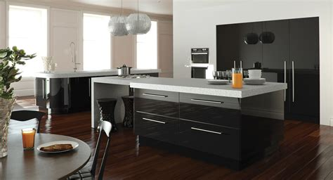 black gloss kitchen cabinets designer gloss black kitchen unbeatable prices