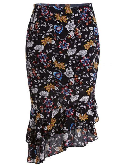 Floral Print Mermaid Skirt stylish high waist floral print mermaid s skirt