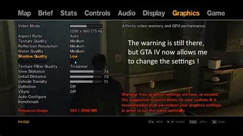 gta4 commandlinetxt that fixes graphics settings error
