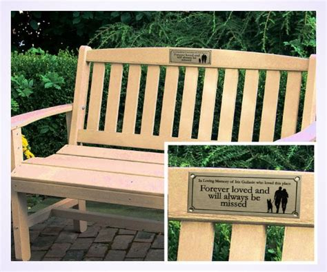 outdoor memorial plaques for benches stainless steel memorial bench plaque brunel engraving